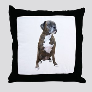 Boxer (brindle2) Throw Pillow